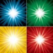 Conjunto de fundos coloridos com flash - vector — Vetor de Stock