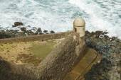 Setry box overlooking Atlantic ocean at El Morro Fortress, San J — Stock Photo