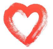 акварель сердце, изолированные на белом фоне — Стоковое фото