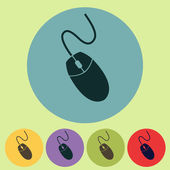 Computer mouse icon, vector illustration. Flat design style — Zdjęcie stockowe