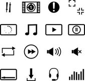 Flat icons audio, media player — Stock Photo