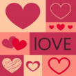 Heart set Icon Vector  Color Variations Valentine's Day, love, card — Stock Photo #61721549