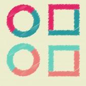 Set of scribble frame  vector  — Stock Photo
