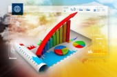 Business graph and chart — Stock Photo