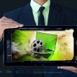 Laptop with reel in frame — Stock Photo #56122257