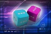 Two dice — Stock Photo