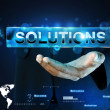 Hand showing the word solution — Stock Photo #56135241