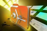 Folder with safe lock — Stock Photo