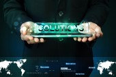 Word solution on digital tablet — Stock Photo