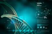 Twisted chrome DNA chain — Stock Photo