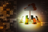 Concepts cloud computing devices — Stock Photo