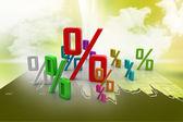 Growth percentage — Stock Photo