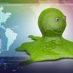 Green octopus — Stock Photo #56190315