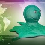 Green octopus — Stock Photo #56190473