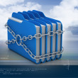 Folders locked by chains — Stock Photo #56195823