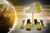 Concepts cloud computing devices — 图库照片