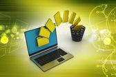 File folders transfer — Stock Photo