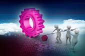 Symbol der Teamarbeit — Stockfoto