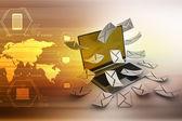 E-mail concept. — Stock Photo