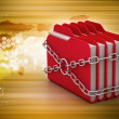 Folders locked by chains — Stock Photo #56233839