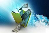 Složky s měnou — Stock fotografie