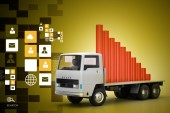 Business graph in truck — Stock Photo