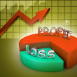 Profit and losses pie chart — Stock Photo #56252115