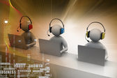 Men with headsets — Stock Photo