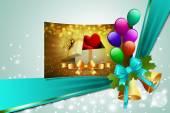 Luxe-geschenketui en harten met decoraties — Stockfoto