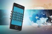 智能手机链概念 — 图库照片