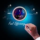 Fuel efficiency concept — Stock Photo