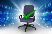 Marca bien sentado en la silla — Foto de Stock