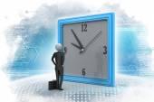 Man watching the clock — Stock Photo