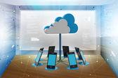 Kavramlar bilgi işlem aygıtlarının bulut — Stok fotoğraf