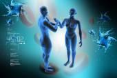 Insan vücudunun sağlık kavramı — Stok fotoğraf