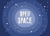 Otevřený prostor — Stock vektor