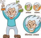 Funny scientists set — Vector de stock