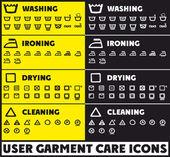 User huge garment care icons — Vector de stock