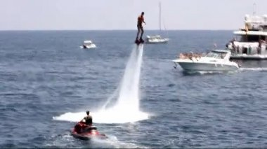 The amazing flyboard — Stock Video