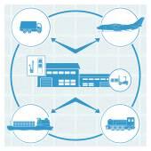 Logistyc — Wektor stockowy