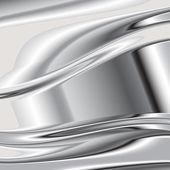 Elegant 3d metallic background, vector. 5 — Vetor de Stock