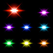 Set of Vector glowing special light effect star 2 — Stock Vector #72271515