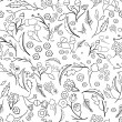 Seamless ecology pattern with leaves. Vector — Stock Vector #73934209