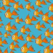 矢量无缝模式与鱼 — 图库矢量图片