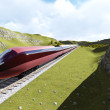 Modern high speed trains 2 — Stock Photo #77649146