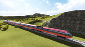 Modern high speed trains 1 — Stock Photo