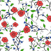 Wale of fabric in beautiful floral pattern — Stock Vector