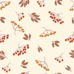 Vector rowan berries, pattern — Stock Vector #52175621