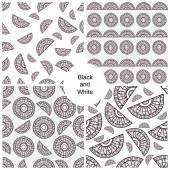 黒と白のシームレスなパターン — ストックベクタ