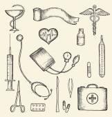 Set van medische benodigdheden — Stockvector